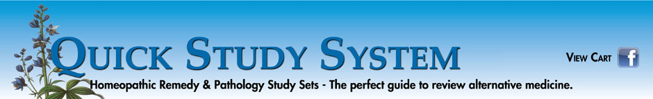 Quick Study System Homeopathic Materia Medica and Pathology Sets